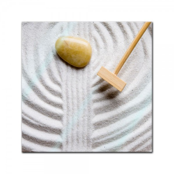 Glasbild - Zen Steine