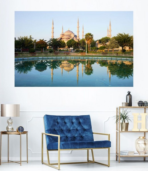 SALE Fototapete Sultan - Ahmet - Moschee in Istanbul- Türkei - 155 cm x 100 cm - farbig