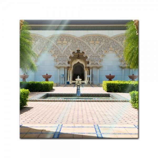 Glasbild - marokkanische Architektur - Putrajaya Malaysia