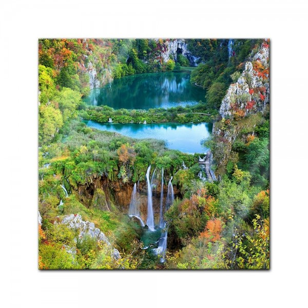 Glasbild - Plitvicer Seen II - Kroatien