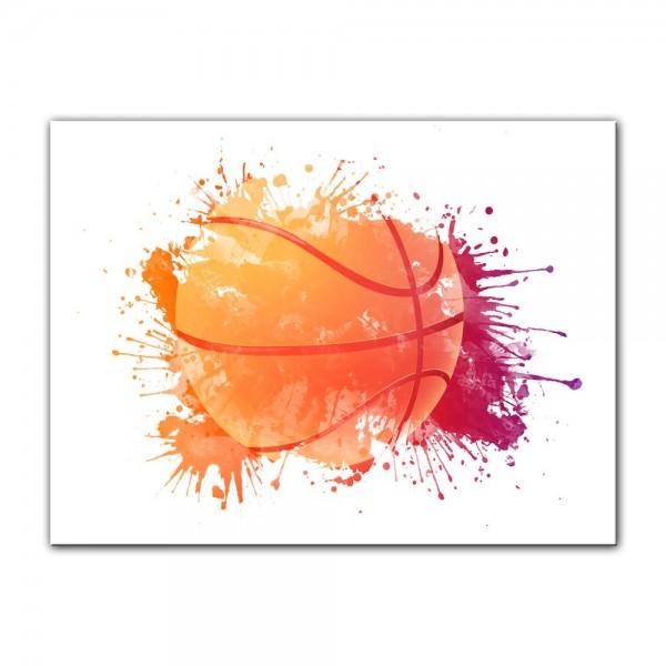 Leinwandbild - Grunge Basketball