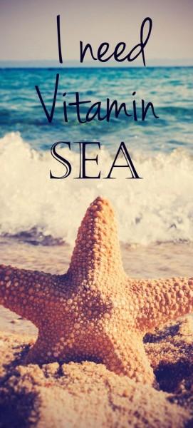 Türtapete selbstklebend Vitamin Sea Vintage 90 x 200 cm Strand Seestern Beach Landschaft Meer Ozean
