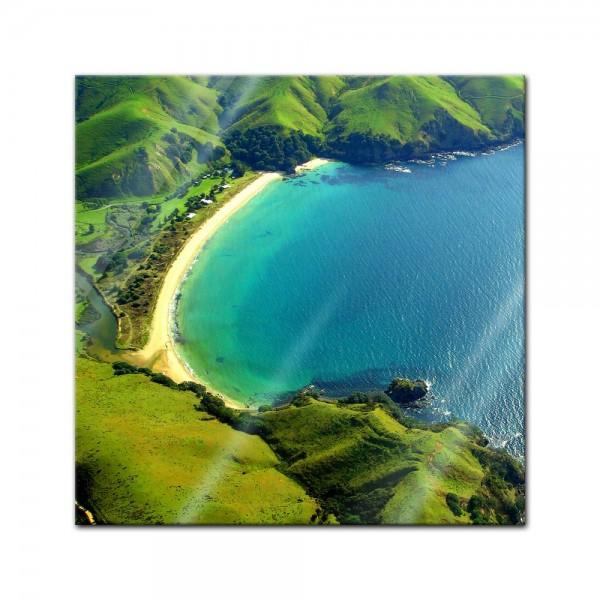 Glasbild - Taupo Bucht - Neuseeland