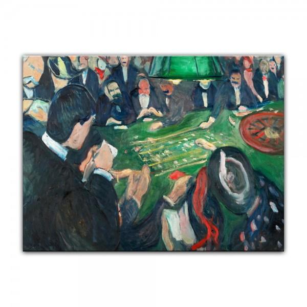 Leinwandbild - Edvard Munch - At the Roulette Table in Monte Carlo