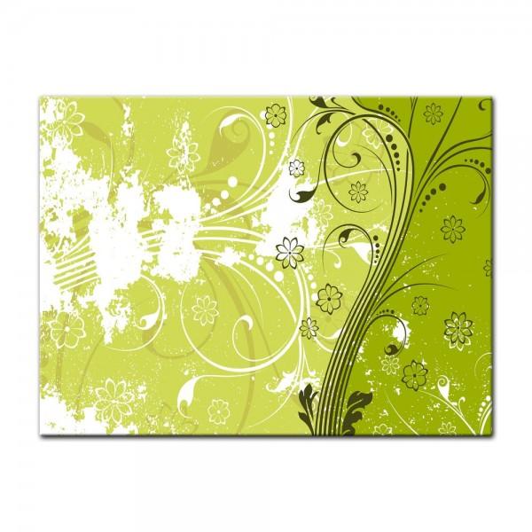 Leinwandbild - Blumen Grunge