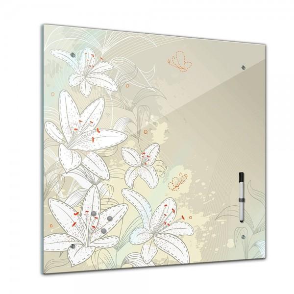 Memoboard - Interieur - Florales Muster IV - 40x40 cm