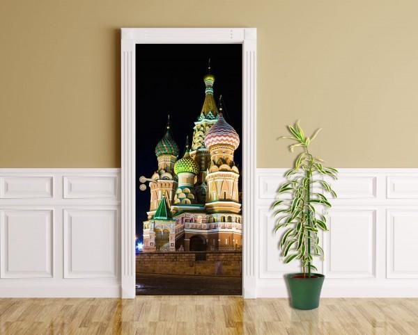 Türaufkleber - Basilius Kathedrale in Moskau
