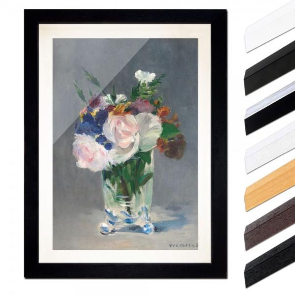Édouard Manet - Blumen in einer Kristallvase