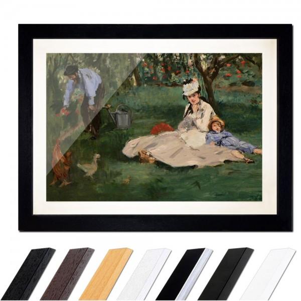Édouard Manet - Die Familie Monet in ihrem Garten in Argenteuil