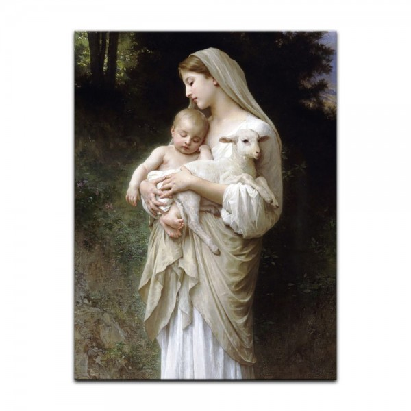 Leinwandbild - William-Adolphe Bouguereau - Die Unschuld