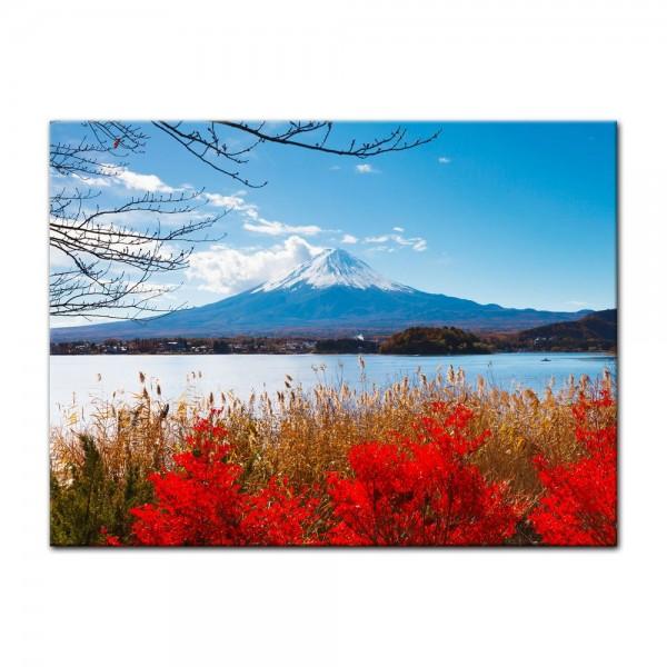 Leinwandbild - Fuji im Herbst