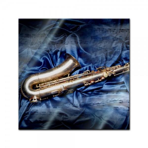 Glasbild - Saxophon