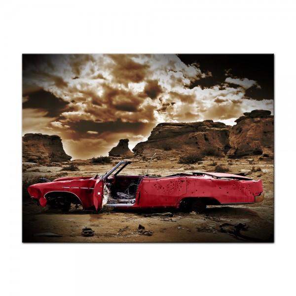 Leinwandbild - Cadillac - rot sepia