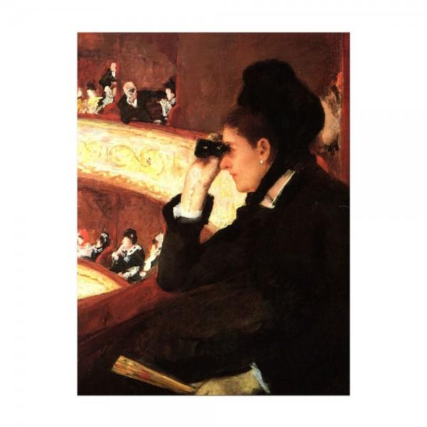 Leinwandbild - Mary Cassatt - In der Oper