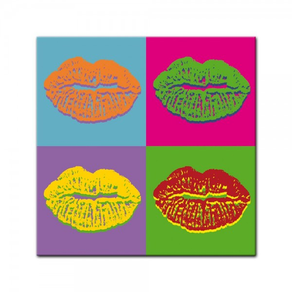 Leinwandbild - Pop-Art Lippen