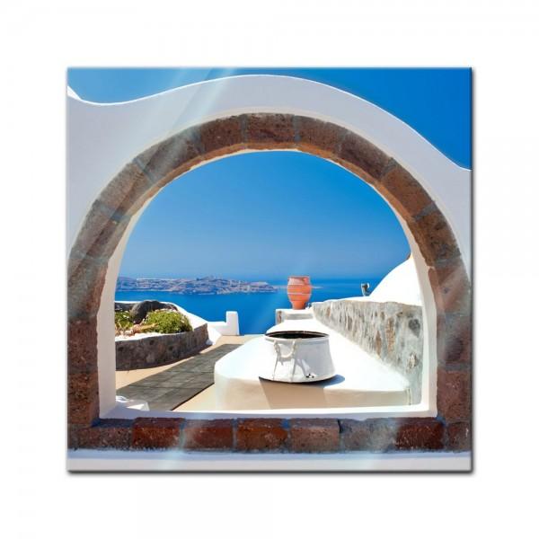 Glasbild - Window to paradise - Fenster zum Paradies