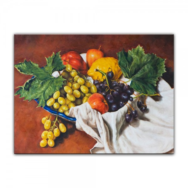 Leinwandbild - Früchte in einer Schale