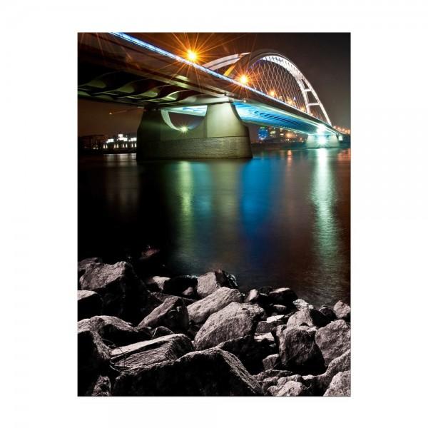 Leinwandbild - Apollo Brücke, Bratislava - Slovakei