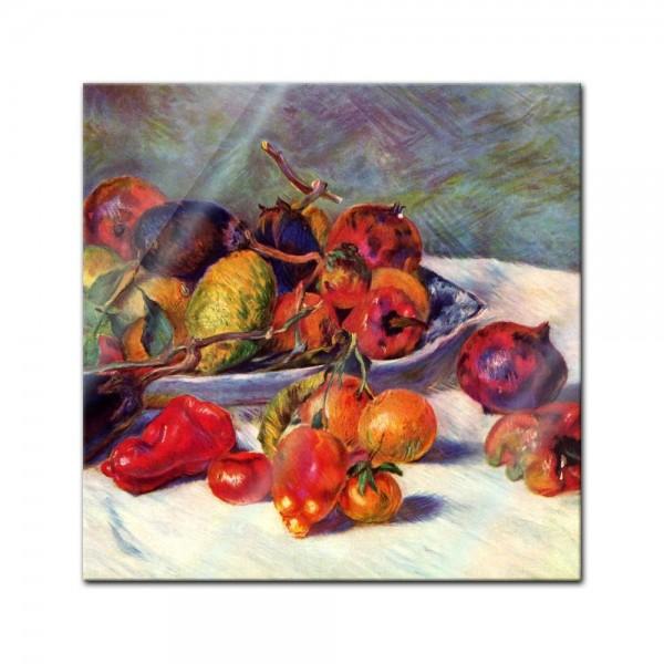 Glasbild Pierre-Auguste Renoir - Alte Meister - Stillleben mit Südfrüchten -