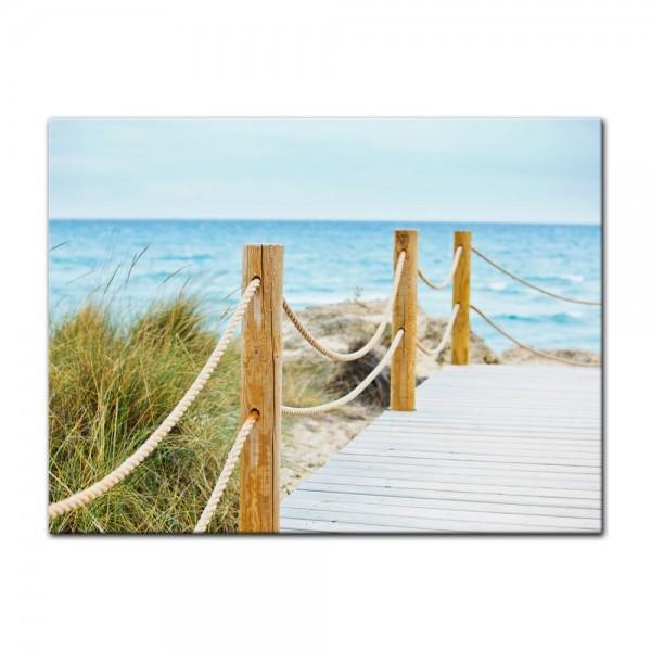 Leinwandbild - Schöner Weg zum Strand