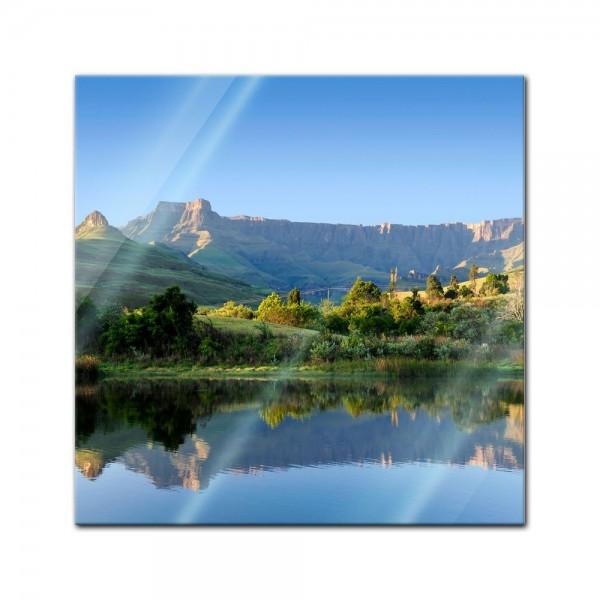 Glasbild - Drakensberg Reflektion