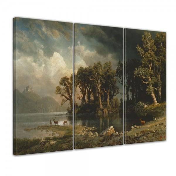 SALE Leinwandbild - Albert Bierstadt - The Coming Storm - 90x60 cm 3tlg