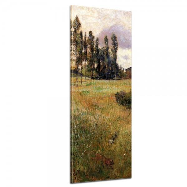 SALE Leinwandbild - Alte Meister - Paul Gauguin - Hunde auf einer Wiese - 40x120 cm