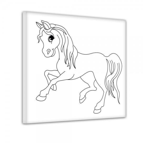 Pferd im Galopp - Ausmalbild