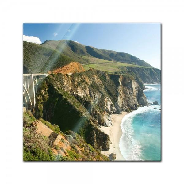 Glasbild - Big Sur Küstenlinie in Kalifornien