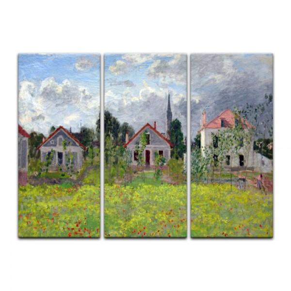 Leinwandbild - Claude Monet - Häuser in Argenteuil