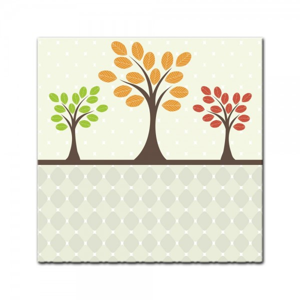 Leinwandbild - Kinderbild - Baum Retro