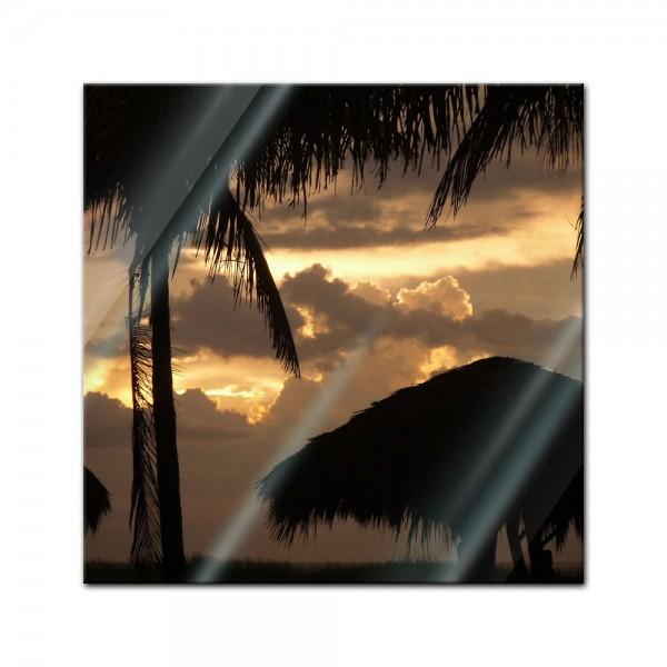 Glasbild - Sonnenuntergang II