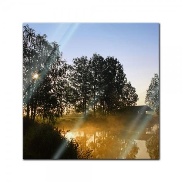 Glasbild - Morgenstimmung