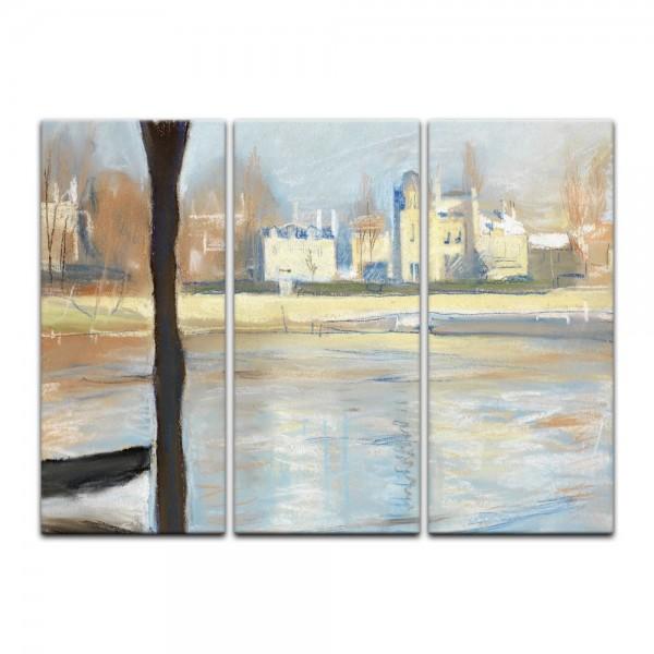 Leinwandbild - Edvard Munch - The Seine at Saint-Cloud