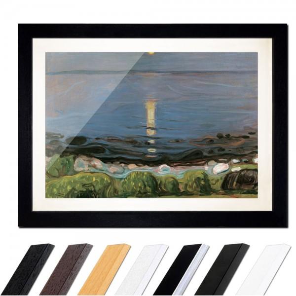 Edvard Munch - Summer night by the beach - Sommernacht am Strand