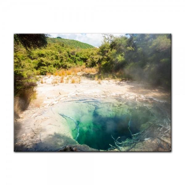 Leinwandbild - Tokaanu Thermalquelle - Neuseeland