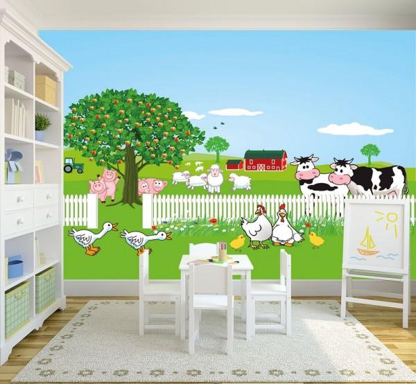 selbstklebende Fototapete - Kinderbild - Bauernhof II - Naturbauernhof