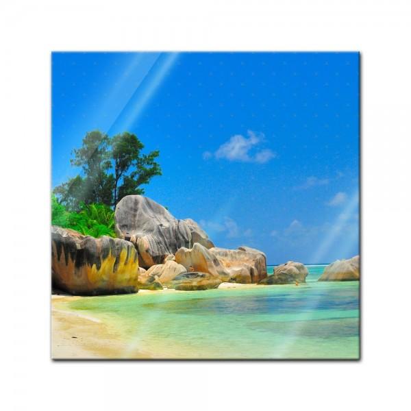 Glasbild - Seychellen