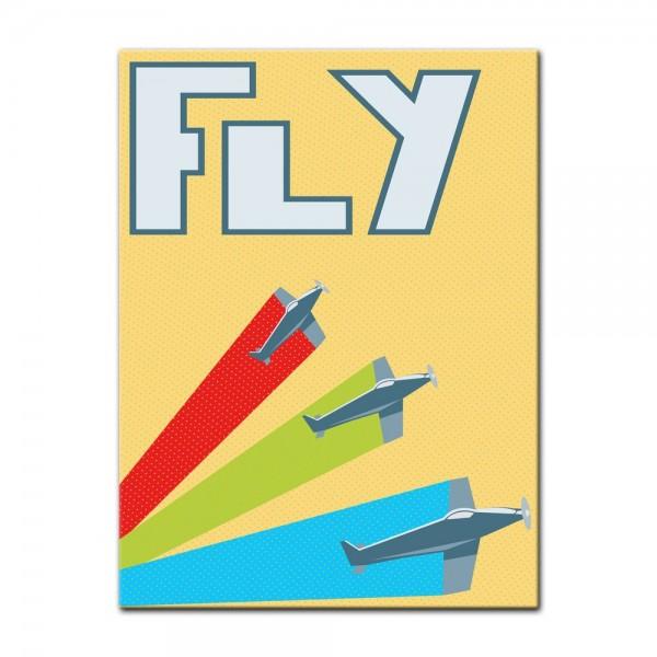Leinwandbild - Fly - Retro Look