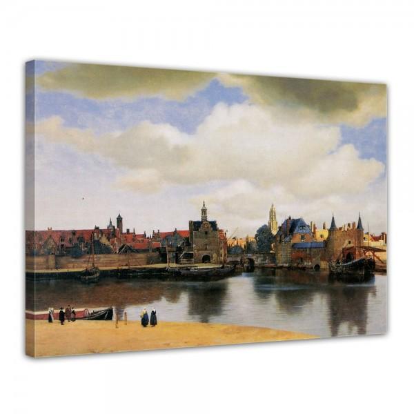 SALE Leinwandbild - Jan Vermeer Ansicht von Delft - 80x60 cm