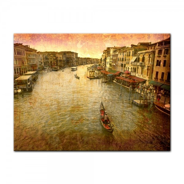 Leinwandbild - Szene Venedig