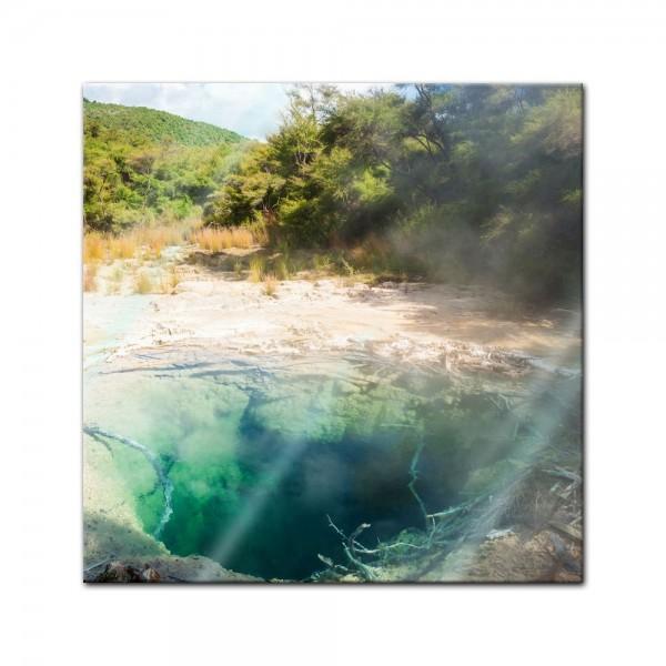 Glasbild - Tokaanu Thermalquelle - Neuseeland