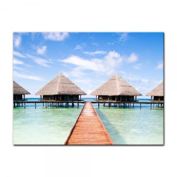 Leinwandbild - Tropischer Strand