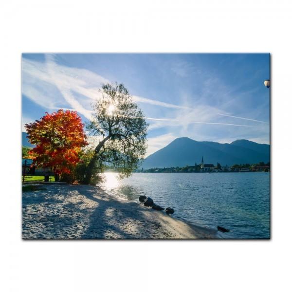Leinwandbild - Schöner Morgen am See