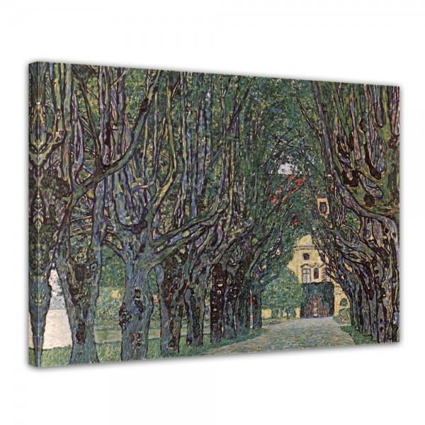 SALE Leinwandbild - Gustav Klimt - Weg im Park von Schloss Kammer - 40x30 cm