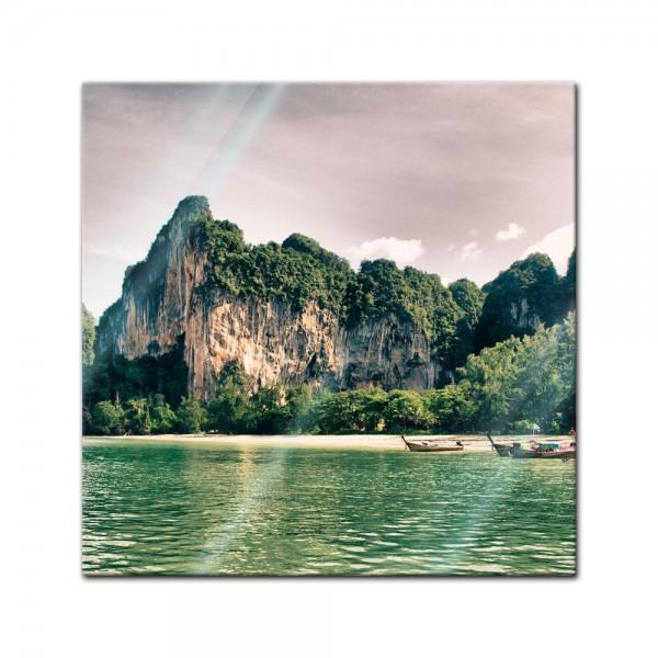 Glasbild - Thailand Landschaft