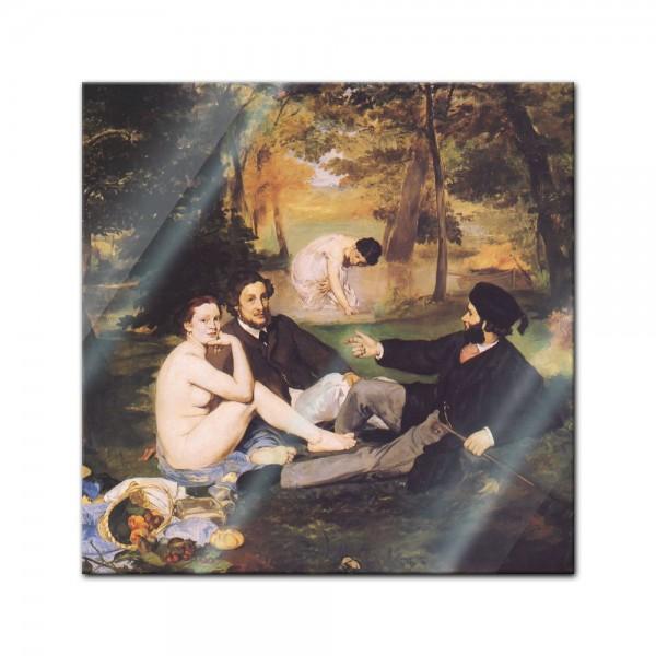 Glasbild Edouard Manet - Alte Meister - Das Frühstück im Grünen 2