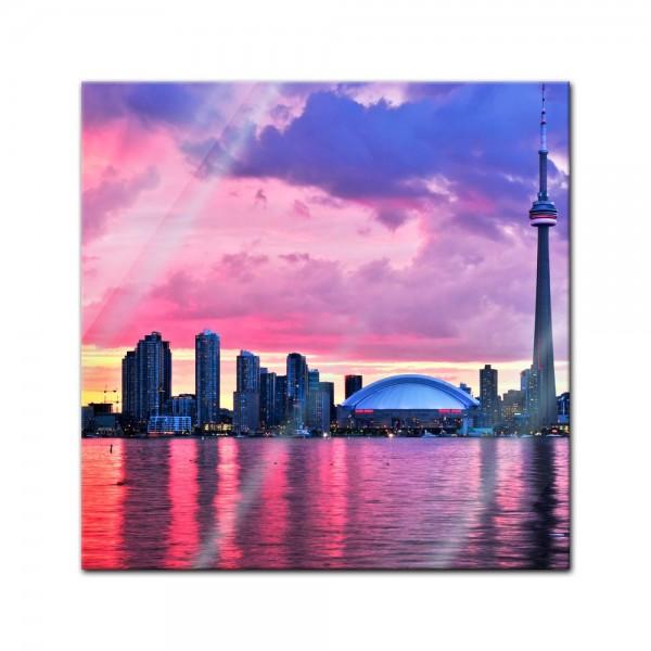 Glasbild - Toronto skyline