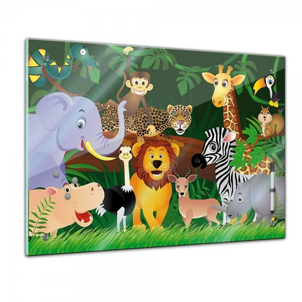 Memoboard - Kinder - Wilde Tiere im Dschungel
