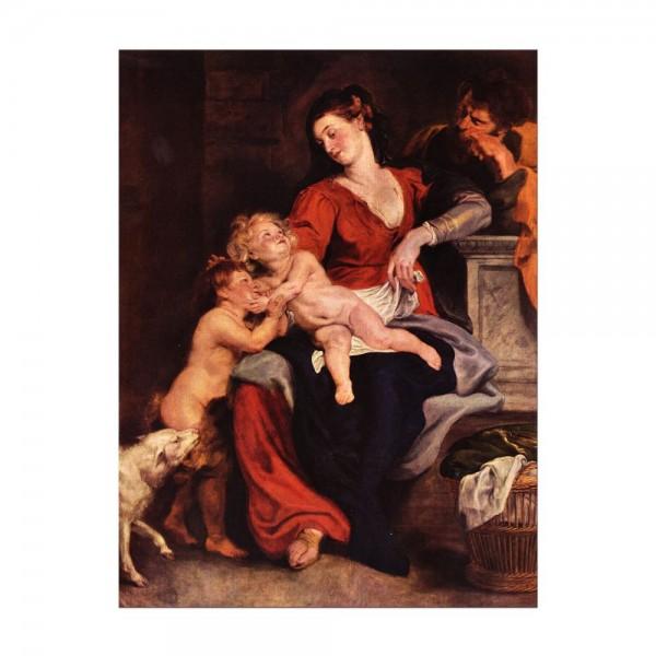 Leinwandbild - Peter Paul Rubens - Die Heilige Familie mit dem Korbe